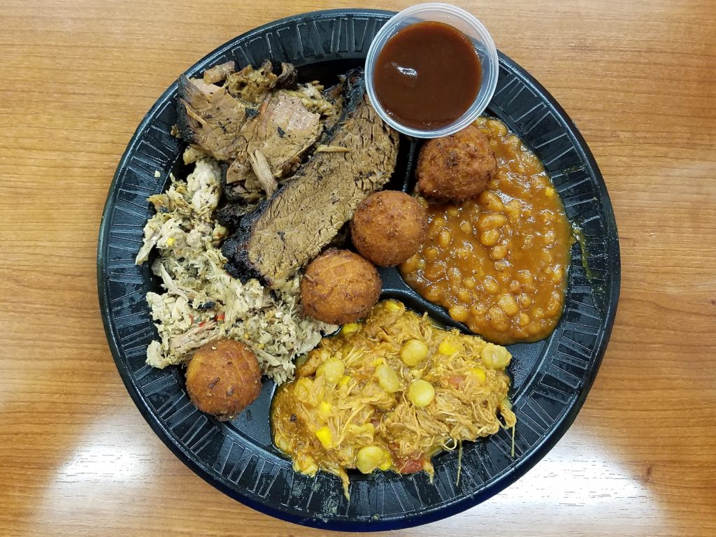 Johnson Family Barbecue Durham, NC Brisket, Pork, Brunswick Stew, Baked Beans