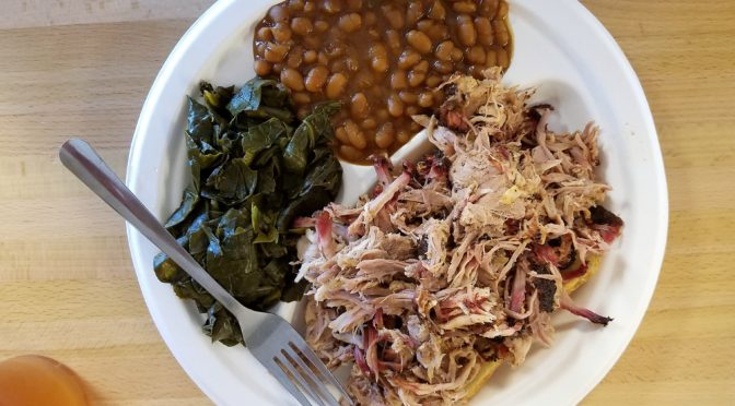 Archers BBQ Kingston Pike Knoxville, TN Pulled Pork, Green and Bake Beans