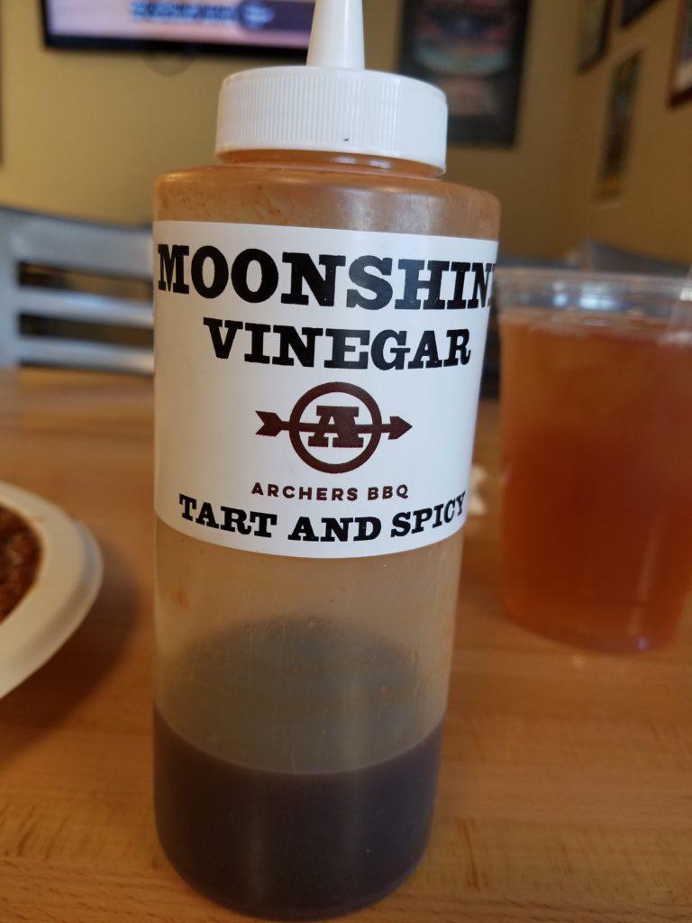 Archers BBQ Knoxville, TN Moonshine Vinegar Sauce